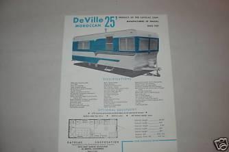 25ft.deville.modern- Original Brochure Specs 1956